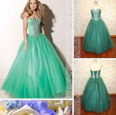 Royal Style Beaded Sweetheart Ball Gown by Loveannaweddingdress, $279.00