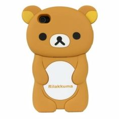 3D Lovely Rilakkuma Silicon Protective Case for iPhone 4/4S