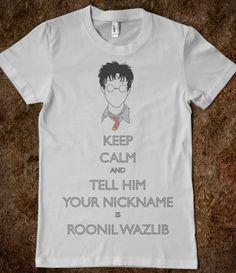 Harry: Tell Him Your Nickname is Roonil Wazlib