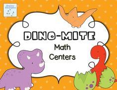 Dino-Mite Dinosaur Math Centers