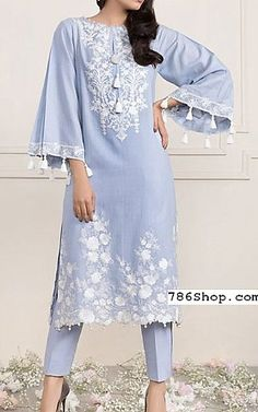 Light Blue Lawn Suit (2 Pcs)   Buy Sapphire Pakistani Dresses and Clothing online in USA, UK