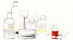 vanity illustration by Garance Doré Makeup Illustration, Illustration Sketches, Drawing Sketches, Drawings, Beauty Illustrations, Shops, Up Book, Kiehls, Trends