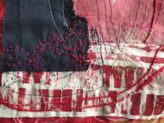 Detail of piece in progress Stephanie Fujii Boro, Textile Art, Beautiful Things, Fiber, Mixed Media, Sculptures, Objects, Arts And Crafts, Quilts