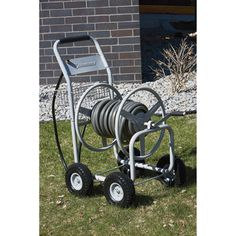 Strongway Garden Hose Reel Cart — Holds 400ft. x 5/8in. Hose