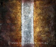 Original Abstract Oil Painting on Canvas by http://bestartdeals.com.au  , $74.25.