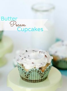 Butter Pecan Cupcakes by Confessions of a Cookbook Queen. These butter pecan cupcakes are full of buttery flavor. Sure to be a fast favorite!