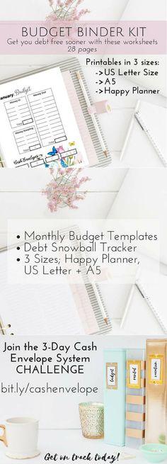 Budget Binder Feeling hopeless, Binder and Free printable