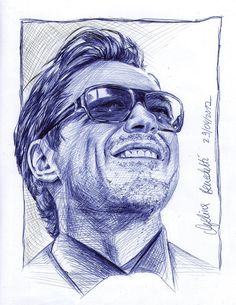 Robert Downey Jr. smiling by AngelinaBenedetti.deviantart.com on @deviantART