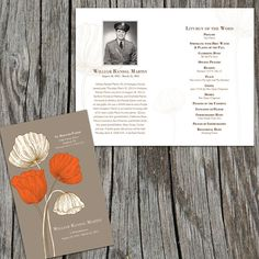 Another new template by Fox Digital Design!    Poppies Remembrance Memorial/Funeral Program by FoxDigitalDesign, $30.00