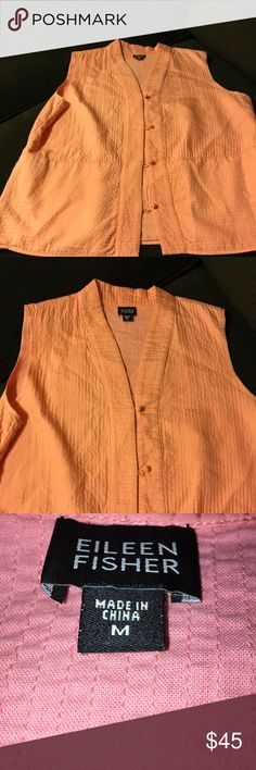 Eileen fisher Color is coral This vest is beautiful Eileen Fisher Jackets & Coats Vests