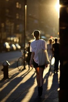 street shots – listening to headphones while running errands, walking home from work etc