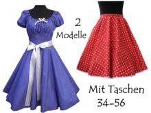 2 Schnittmuster Petticoatkleid und Tellerrock +Bild -Nähanleitung alle Gr.34-56 enthalten
