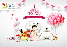Background Happy Birthday Baby PSD File