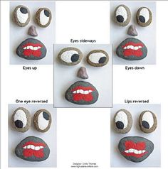 Great fun!  Make a basket of painted rock facial features ~  Cindy Thomas