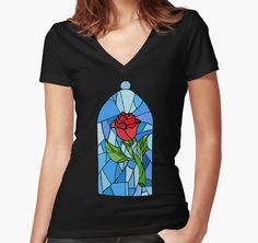 Stained glass Rose  by HollieBallard