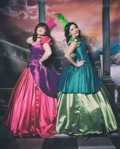 Cinderella ❀❀ Anastasia by ❀❀ Drizella by Katte Cosplay ❀Photography by: JLMFotografo&nbs. Anastasia and Drizella Tremaine Drizella Tremaine, Anastasia And Drizella, Cinderella, Past Love, Recital, Girl Photos, Ball Gowns, Snow White, Cosplay