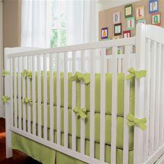 Solid Citron Crib Bedding | Beautiful Gender Neutral Baby Bedding | Carousel Designs   #baby #nursery #green