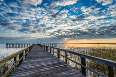 Fishing Pier at Meaher State Park in Spanish Fort, Alabama.