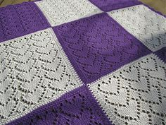 Baby blanket made from sweet squares. Have fun!