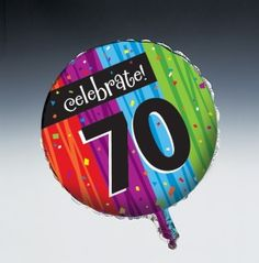 Milestone Celebrations - 70th Metallic Balloon - 12 per case  Product # :40783  $16.36