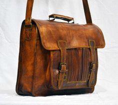 vintage bag Leather bag Men's Laptop Brifcase leather brown leather handmade satchel bag genuine office briefcase by mandalaworld123 on Etsy