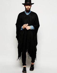 poncho mens fashion