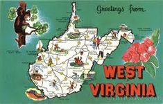 Carole's Chatter: State of the Month West Virginia – to last one! Blackwater Falls, Don Knotts, Town Names, Harpers Ferry, Mountain States, Virginia Occidentale, Famous Places, West Virginia, Vintage Postcards