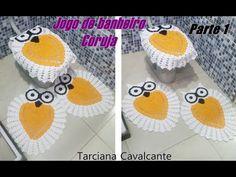 Tampa do vaso corujinha graciosa # Elisa Crochê - YouTube
