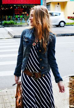 Denim Jacket on beach dress  , Zara en Chaquetas,  en Vestidos, Pepe Jeans en Cinturones, Balenciaga en Bolsos