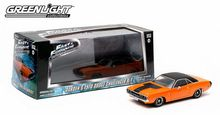Greenlight 1/43 Scale 2009 Fast & Furious Dardens 1970 Dodge Challenger R/T Orange Diecast Car Model 86207 www.DiecastAutoWorld.com 2312 W. Magnolia Blvd., Burbank, CA 91506 818-355-5744 AUTOart Bburago Movie Cars First Gear GMP ACME Greenlight Collectibles Highway 61 Die-Cast Jada Toys Kyosho M2 Machines Maisto Mattel Hot Wheels Minichamps Motor City Classics Motor Max Motorcycles New Ray Norev Norscot Planes Helicopters Police and Fire Semi Trucks Shelby Collectibles Sun Star Welly
