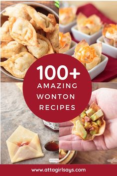 Who knew wonton wrappers were so versatile If youve never cooked with them youre missing out Theyre great for making appetizers desserts nachos crackers dumplings bitesiz. Wonton Recipes, Appetizer Recipes, Recipes With Wonton Wrappers, Wonton Wrapper Appetizers, Wonton Wrapper Dessert, Eggroll Wrapper Recipes, Egg Roll Recipes, Nachos, Wonton Wraps