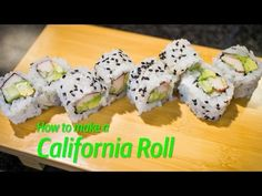 How to Make a California Roll - YouTube