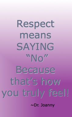More about self respect and it's importance to your self esteem!