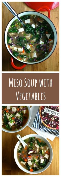 This one-bowl meal miso soup is chock full of veggies and tofu. So simple and so comforting!