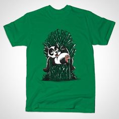 PANDA ON THRONE T-Shirt - Iron Throne T-Shirt