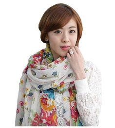 Women Fashion Floral Scarf Shawl Wrap SC031 « Clothing Impulse