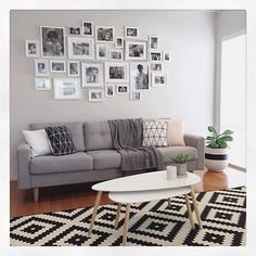 Love this photo wall at @my_home_14 place . ( #tapfordetails ) It's such a great space good luck with your #fiddleleaffig and thanks for the tag so I could #sharetoinspireothers xo :) @get_inspired_share #getinspiredshare