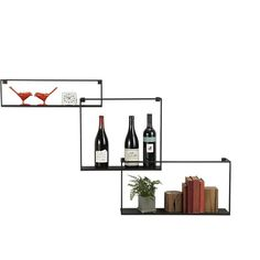 set of 3 floating shelves | CB2