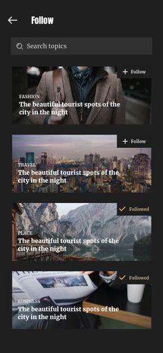 #followscreen #caily #news #appdesign #uikit #information #magazine App Design Inspiration, Mobile App Design, Tourist Spots, Ui Kit, App Ui, Ui Ux Design, Magazine, News, Magazines