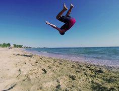 Capoeira Backflip by the sea ;)#capoeira #greece #sea #acrobatics Check out more in my instagram : http://instagram.com/eftaxiap