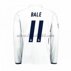 Billige Fodboldtrøjer Real Madrid 2016-17 Bale 11 Langærmet Hjemmebanetrøje
