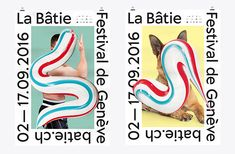 It's Nice That   Swiss studio Neo Neo creates toothpaste-inspired identity for cultural festival