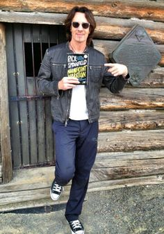 Rick Springfield outside of Jack London's Cabin (Author of White Fang)