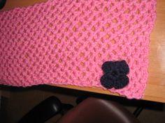 bufanda de lana con flor