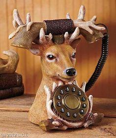 Novelty Functional Vintage Style Wildlife Deer Touchtone Dial Telephone   eBay