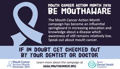 Today is the start of Mouth Cancer Action Month! It is a charity campaign which aims to raise awareness of mouth cancer and make a difference by saving thousands of lives through early detection and prevention.  Throughout November we will be aiming to get more mouth cancers diagnosed at an early stage by increasing education of the risk factors and signs and symptoms while encouraging everybody to discuss them with their dental professional.  #‎MouthCancerAction‬ ‪#‎bluelipselfie‬