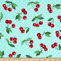 Michael Miller Cherry Dot Mint