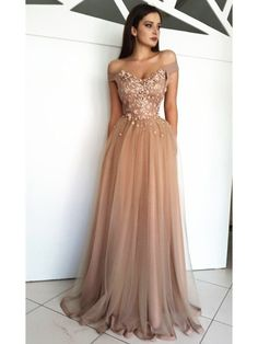 Custom Made A Line Off Shoulder Tulle Prom Dresses, Off Shoulder Formal Dresses,. - Custom Made A Line Off Shoulder Tulle Prom Dresses, Off Shoulder Formal Dresses, Graduation Dresses Source by litleverything - Cheap Sweet 16 Dresses, Cheap Prom Dresses, Long Dresses, Brown Prom Dresses, Wedding Dresses, Bridesmaid Dresses, Dresses Dresses, Summer Dresses, Bride Dresses