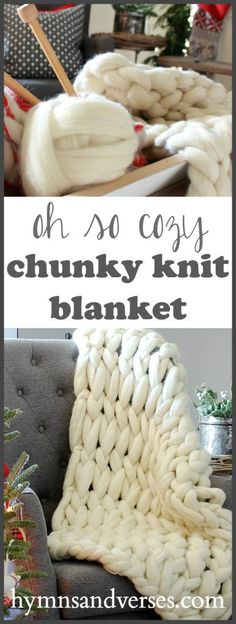Get Cozy with a Chunky Knit Blanket
