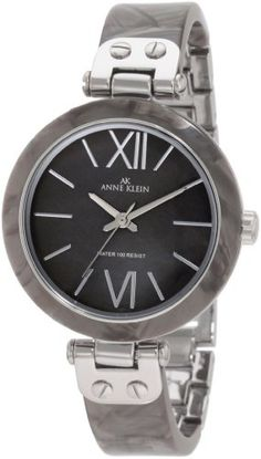 Anne Klein Womens 109653GMGY Grey Marbleized Resin Bangle SilverTone Watch >>> You can find out more details at the link of the image. Note: It's an affiliate link to Amazon